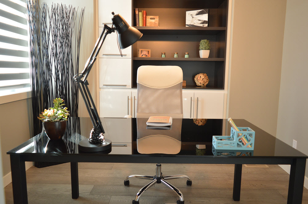 Desk in office for virtual assistant